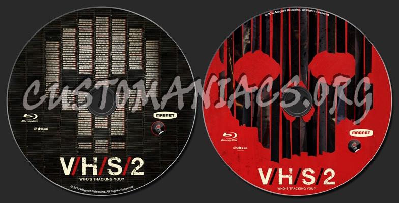 V/H/S/2 (aka VHS 2) blu-ray label
