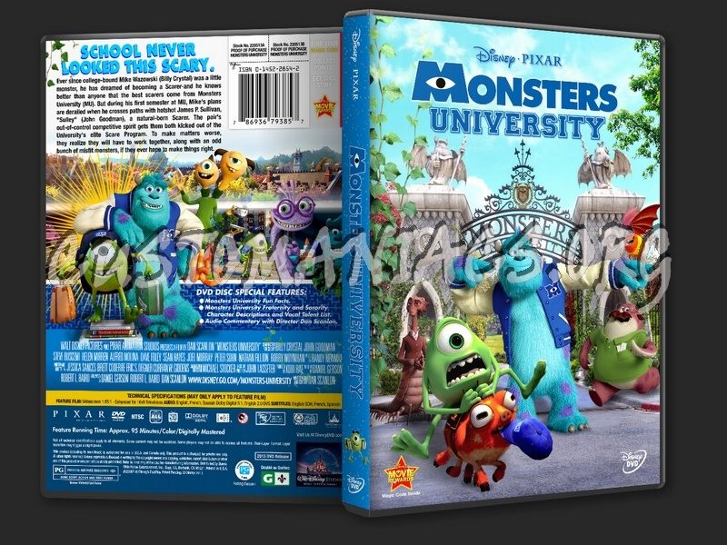 Monsters University (2013) dvd cover - DVD Covers & Labels ...