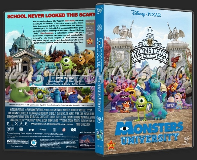 Monsters University dvd cover - DVD Covers & Labels by ...