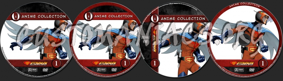 Anime Collection Gatchaman Complete Collection Part Three dvd label