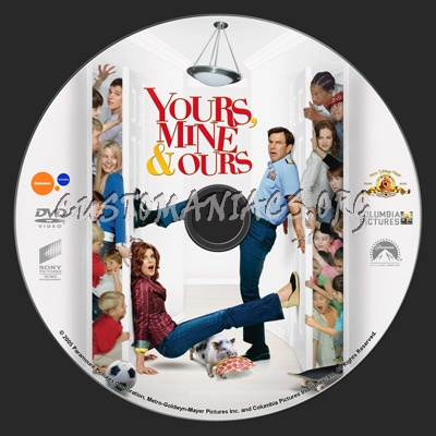 Yours, Mine & Ours dvd label
