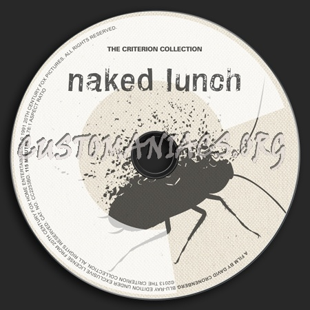 220 - Naked Lunch dvd label