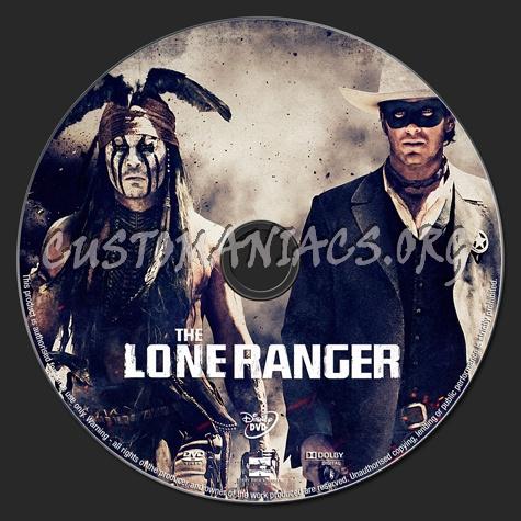 The Lone Ranger dvd label