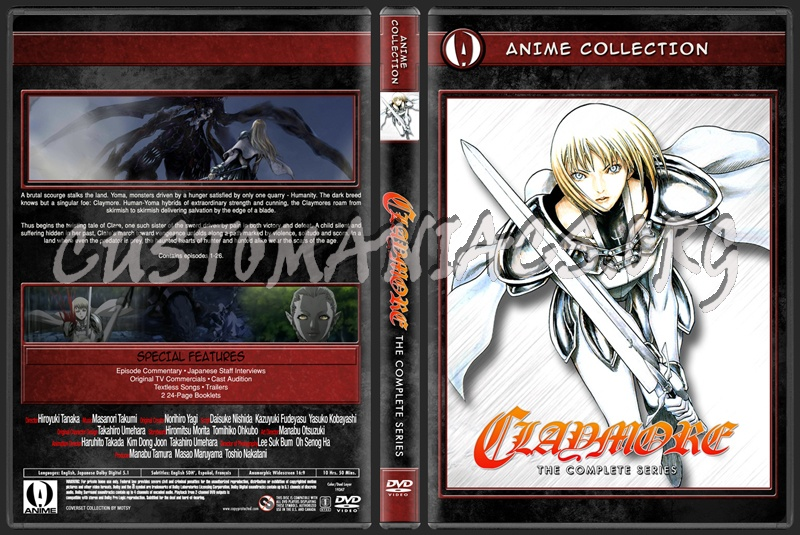Anime Collection Claymore Complete Collection dvd cover