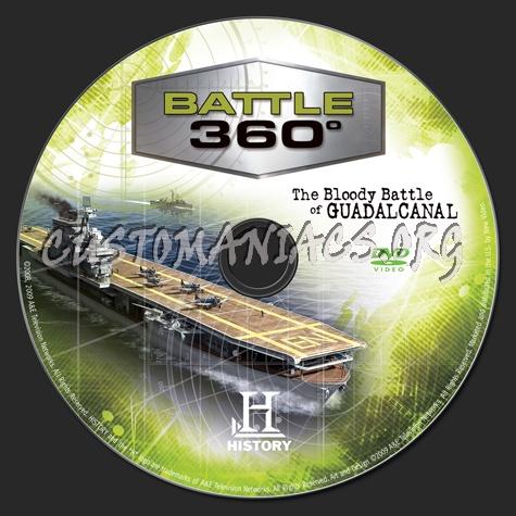 Battle 360° The Bloody Battle of Guadalcanal dvd label
