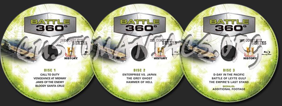 Battle 360° The Complete Season 1 blu-ray label