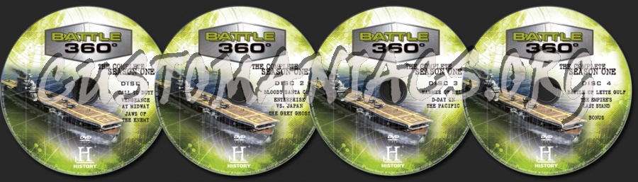 Battle 360° The Complete Season 1 dvd label