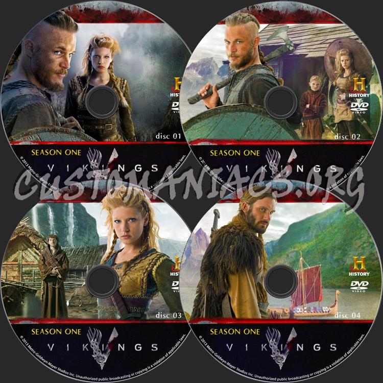 Vikings dvd label