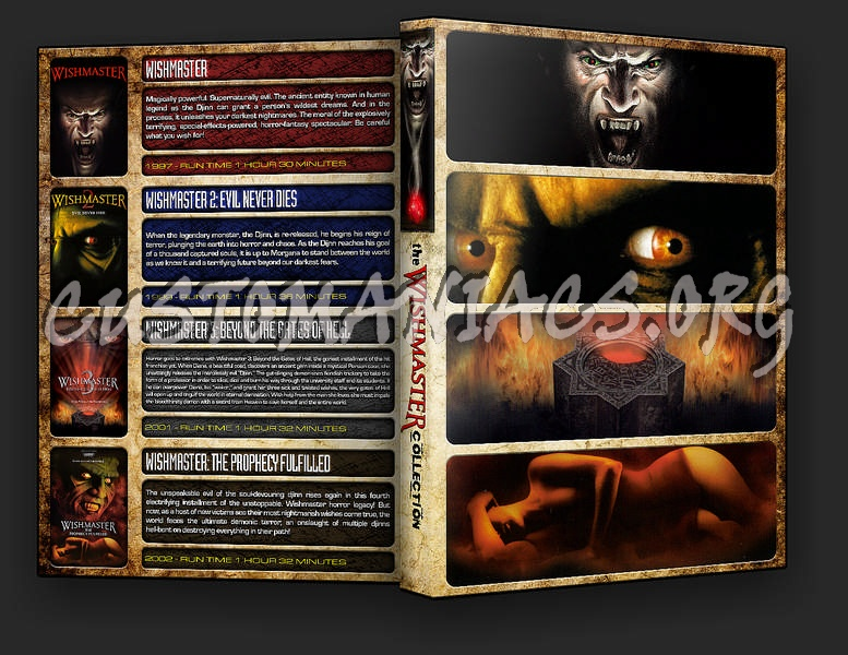 The Legends of Horror - The Wishmaster Collection dvd cover
