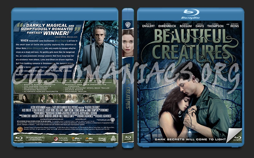 Beautiful Creatures blu-ray cover