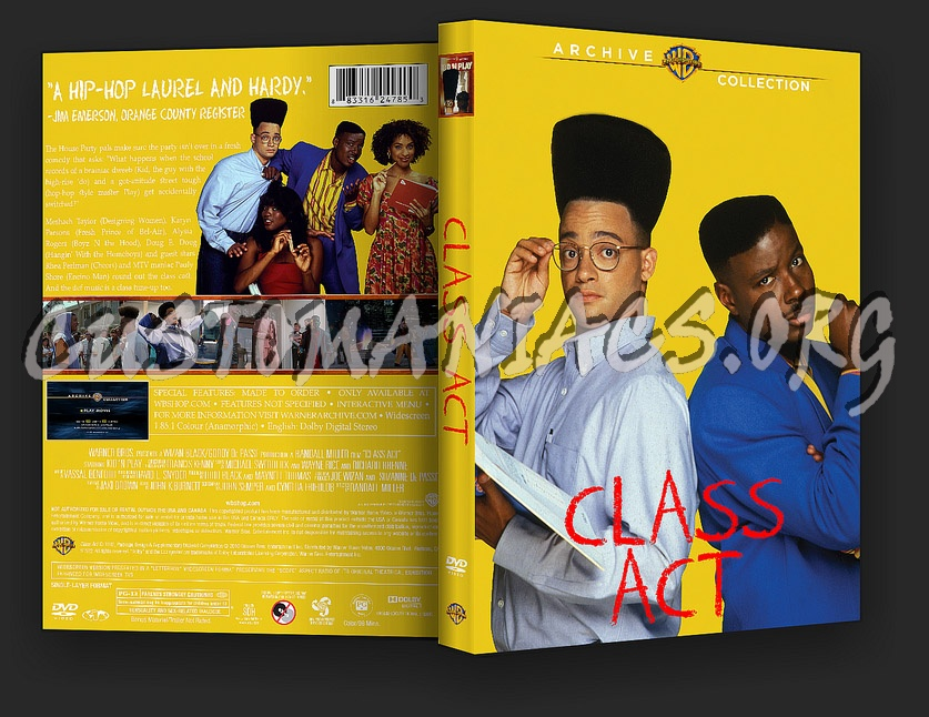 Class Act Movie Quotes: DVD Covers & Labels By Customaniacs