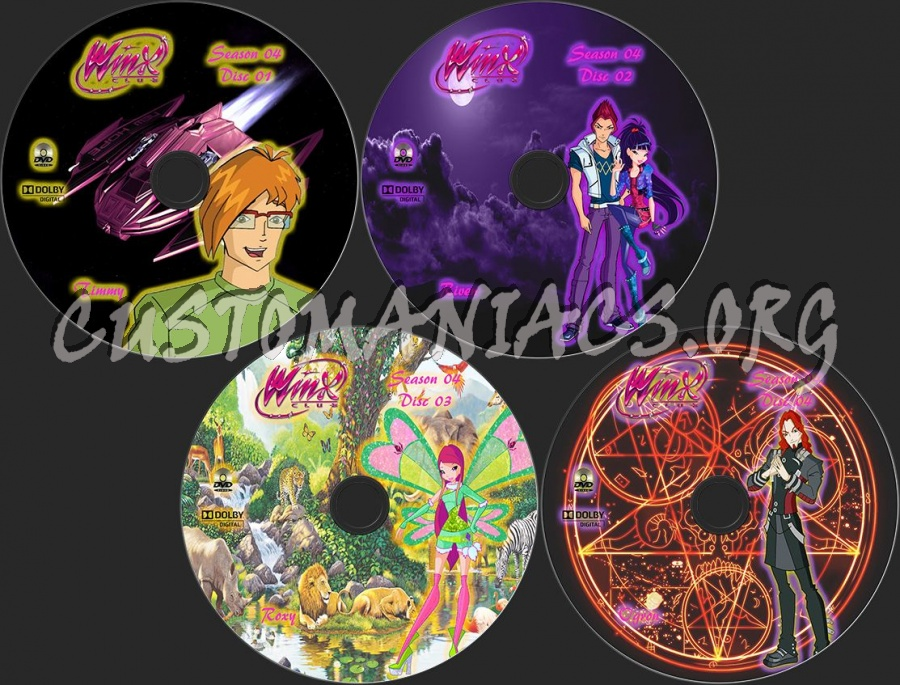 Winx Club Season 4 dvd label