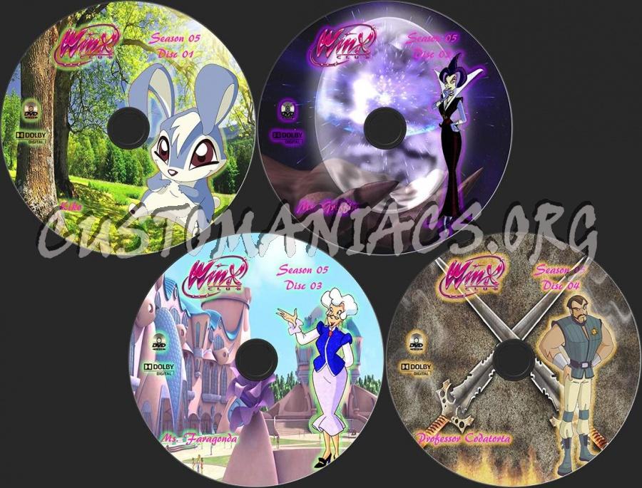 Winx Club Season 5 dvd label