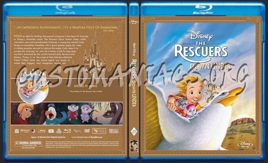 Rescuers Down Under Dvd The Rescuers Down Under