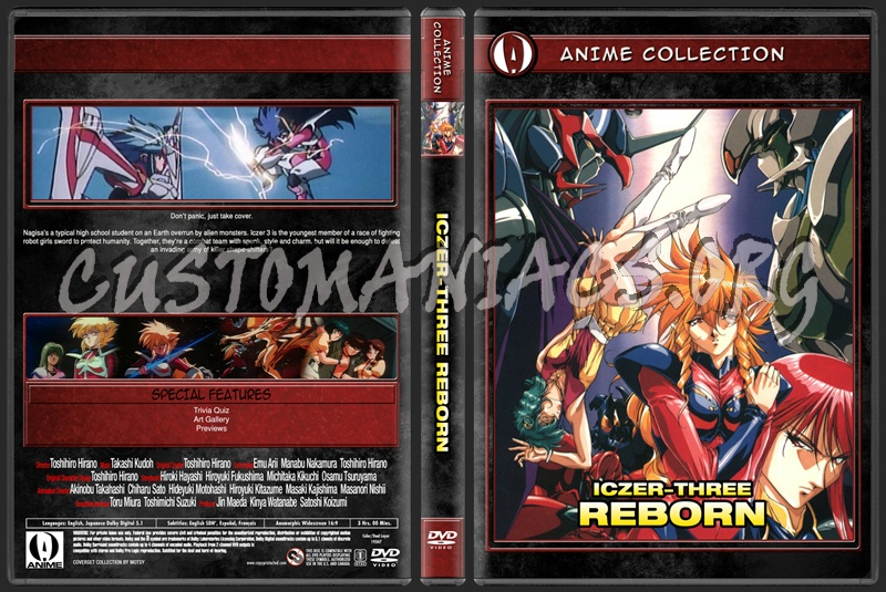 Anime Collection Iczer Three Reborn dvd cover