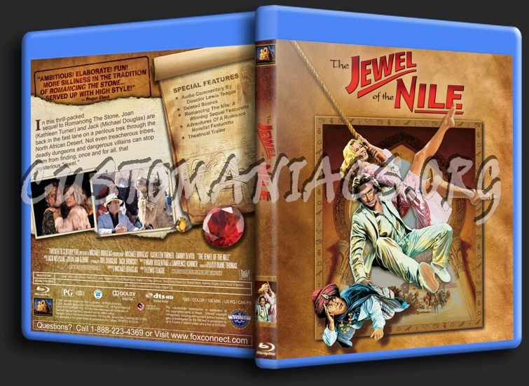 The Jewel of the Nile blu-ray cover