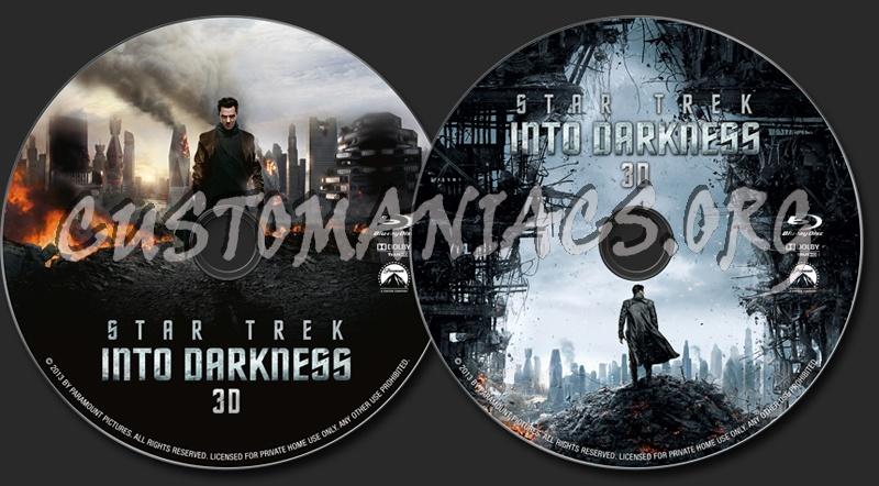 Star Trek Into Darkness (3D) blu-ray label