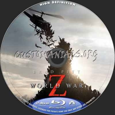 World War z Blu Ray Cover World War z Blu-ray Label