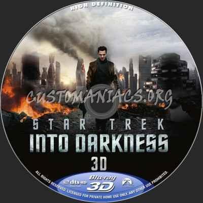 Star Trek Into Darkness (2D+3D) blu-ray label