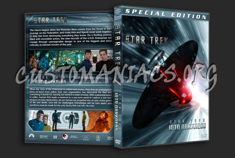 Star Trek / Star Trek: Into Darkness Double dvd cover
