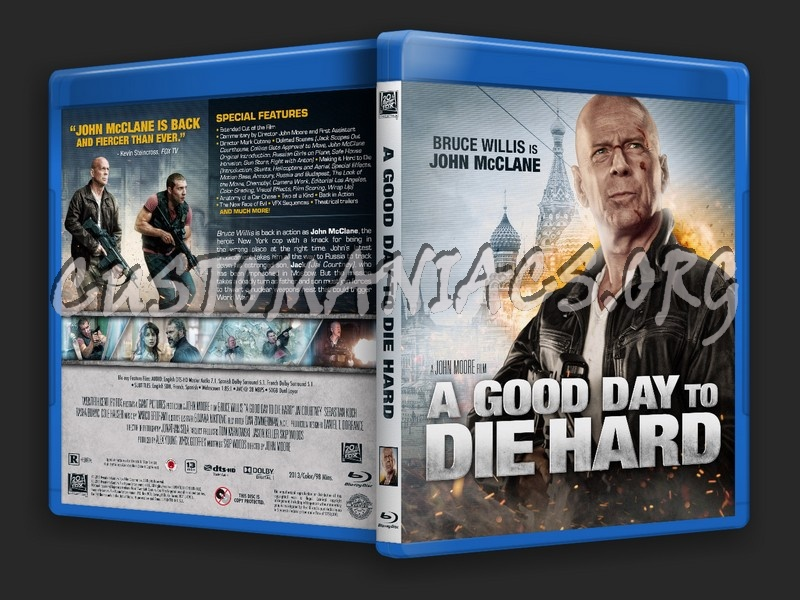 A Good Day to Die Hard blu-ray cover