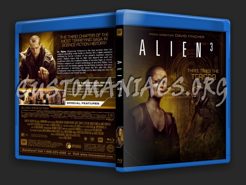 Alien 3 blu-ray cover