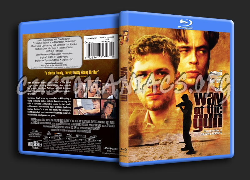 The Way of the Gun blu-ray cover