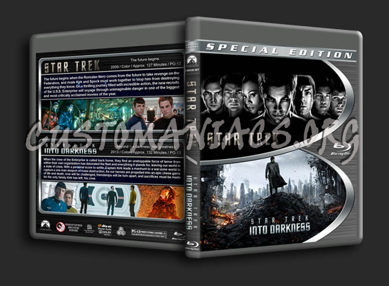Star Trek / Star Trek: Into Darkness Double blu-ray cover