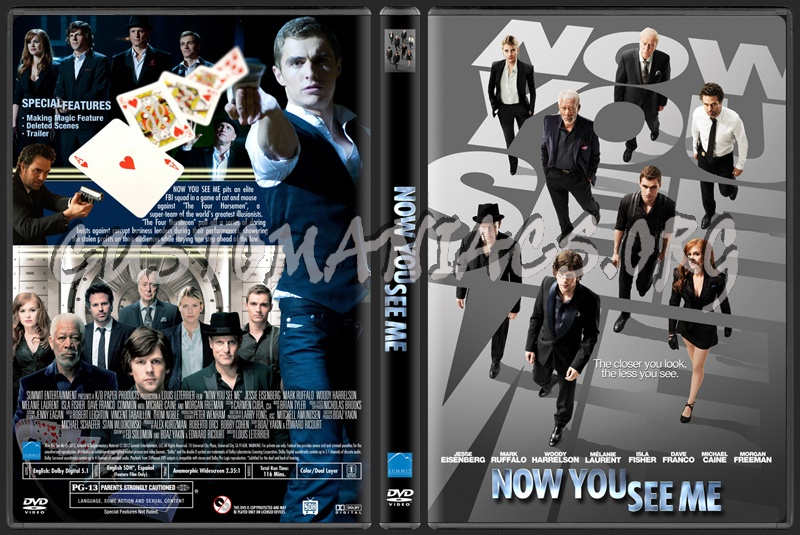 Now You See Me dvd cover