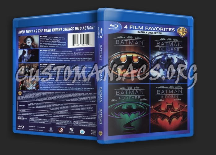 Batman Original 4 Moive Collection blu-ray cover