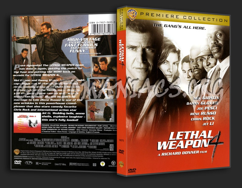 Lethal Weapon 4 dvd cover