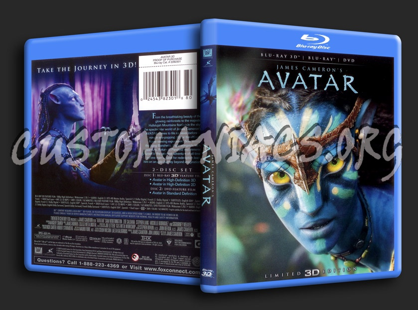 Avatar 3D blu-ray cover