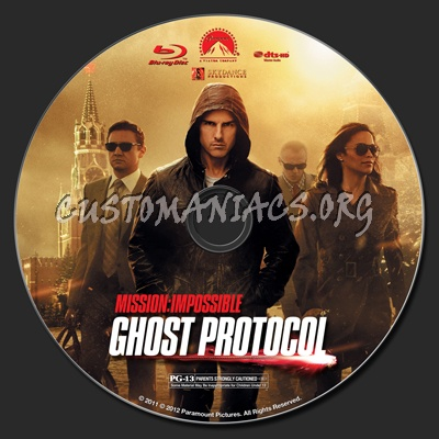 Mission Impossible Ghost Protocol blu-ray label