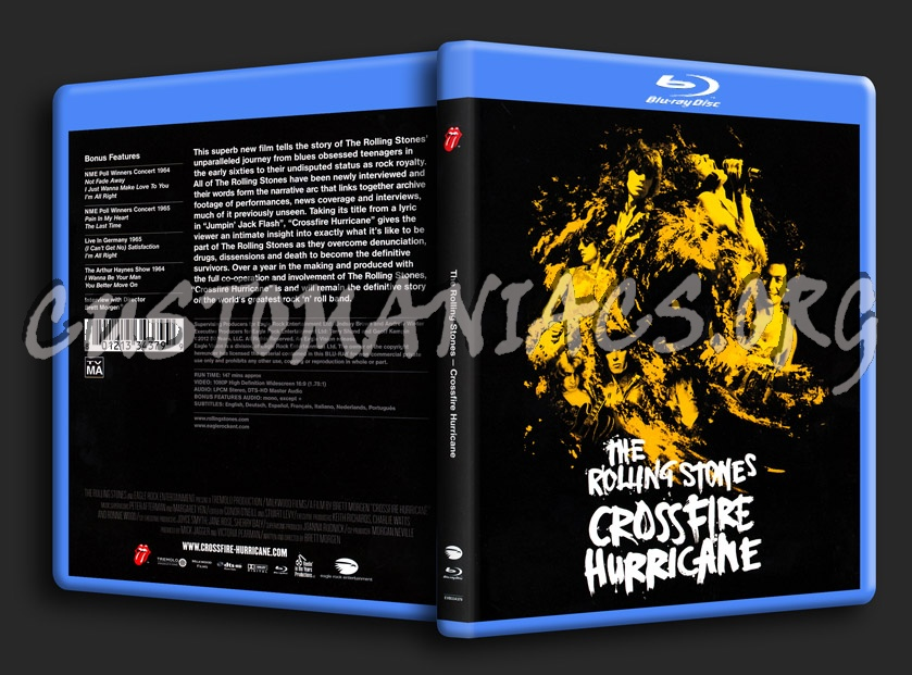 The Rolling Stones - Crossfire Hurricane blu-ray cover