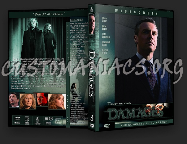 Damages dvd cover