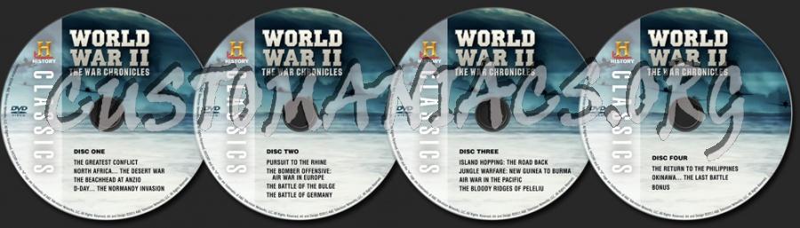 World War II The War Chronicles dvd label