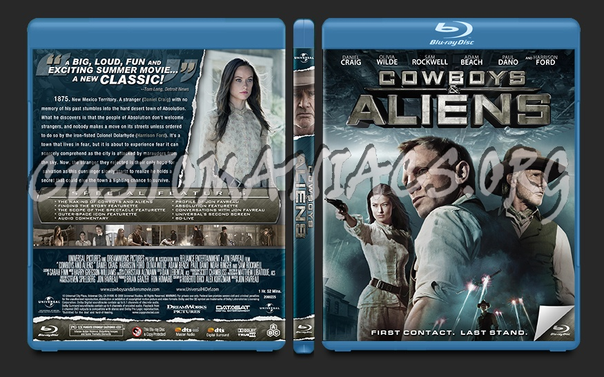 Cowboys and Aliens blu-ray cover