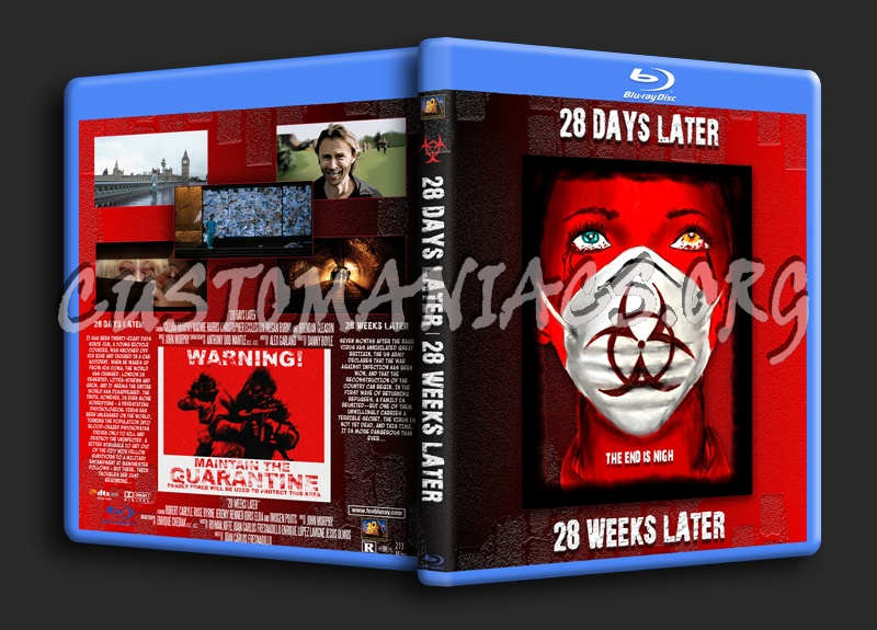 28 Days/28 Weeks Later blu-ray cover