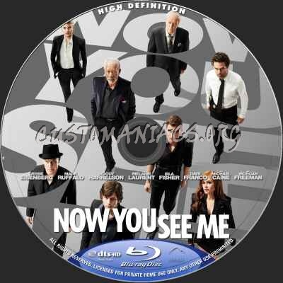 Now You See Me blu-ray label