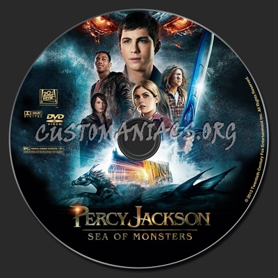 Percy Jackson: Sea Of Monsters dvd label