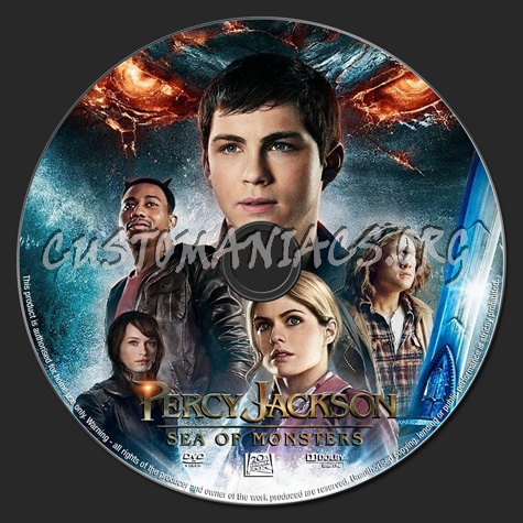 Percy Jackson Sea Of Monsters dvd label