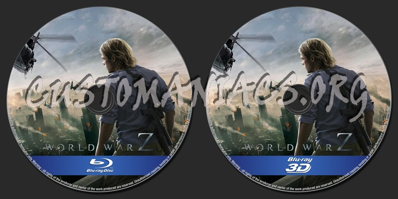 World War z Blu Ray Cover World War z 2d/3d Blu-ray