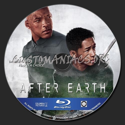 After Earth blu-ray label