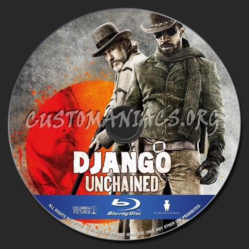 Django Unchained blu-ray label