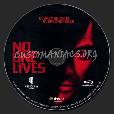 No One Lives blu-ray label