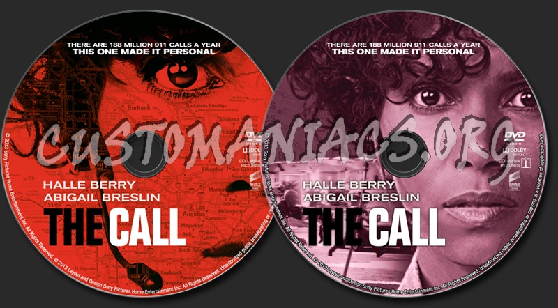 The Call dvd label