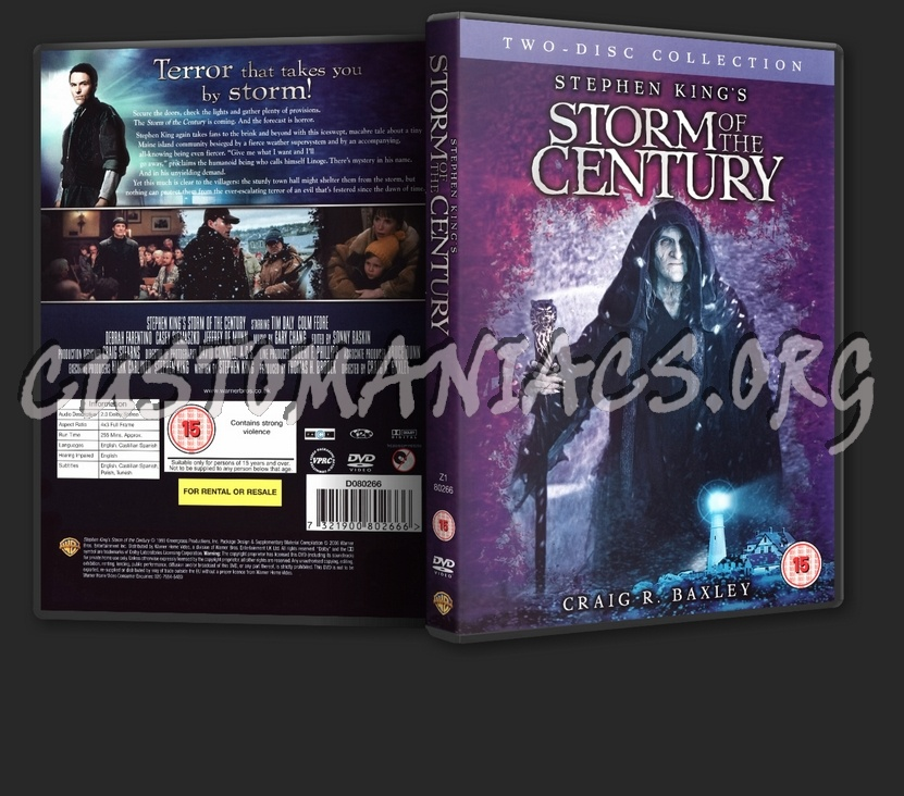 Stephen King's: Storm Of The Century dvd cover