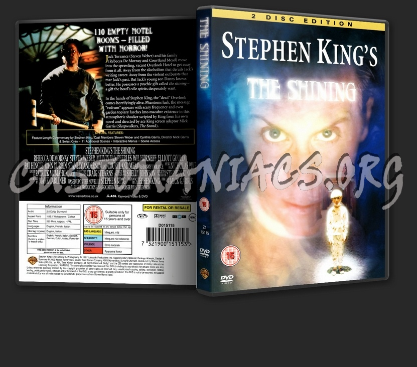 Stephen King's: The Shining dvd cover
