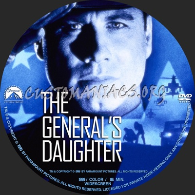 The General's Daughter dvd label