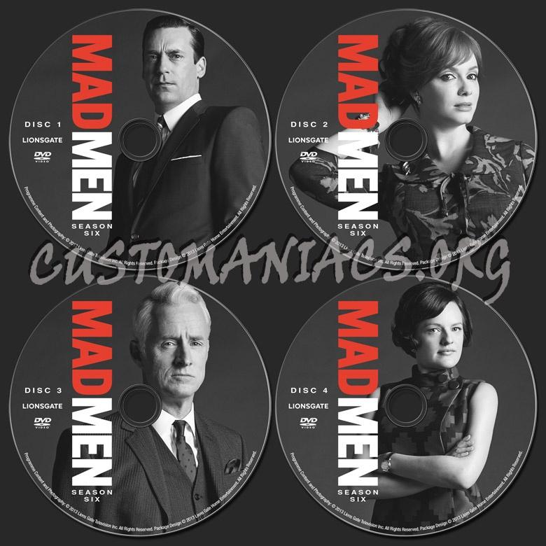 Mad Men Season 6 dvd label